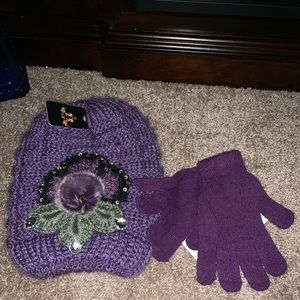 💜💜NWT💜KNITTED HAT/GLOVES💜💜OS💜💜